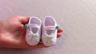 Пинетки для малыша. Вязание крючком
