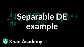 Separable differential equations 2