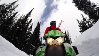 Quentin and Enak on the powder highway in Canada for the Julbo White Session