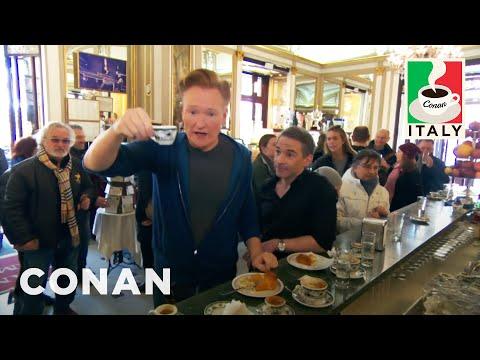 Conan v Itálii #7: Lekce kávy