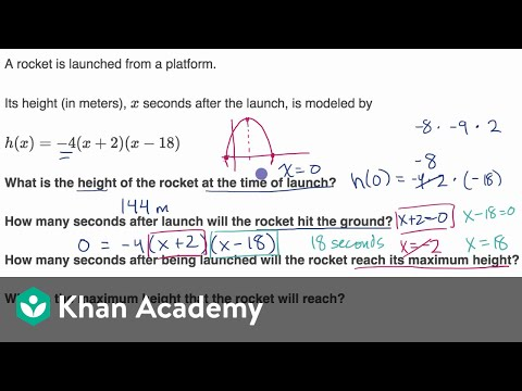 quadratic word problems factored form video khan academy. Black Bedroom Furniture Sets. Home Design Ideas