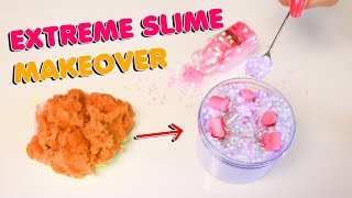 EXTREME SLIME MAKEOVER! turning ugly old slimes into pretty new slimes! Slimeatory #499.7