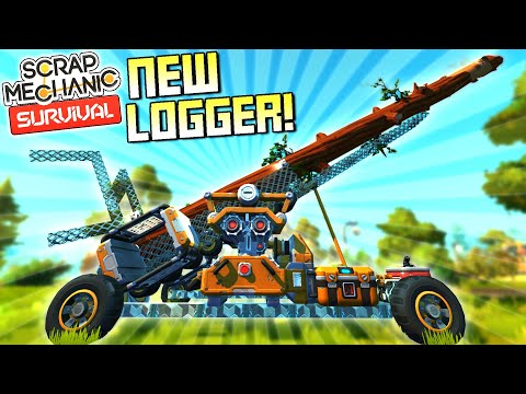 New Logging and Refining Machine in the Works!  - Scrap Mechanic Survival Mode [SMS 35]