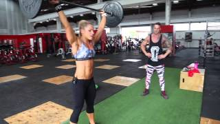 CHRISTINE RAY AND JOE PITT HAVE A BIT OF FUN WITH GRIPPED FITNESS
