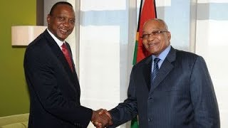 Uhuru Kenyatta and Jacob Zuma hold bilateral talks