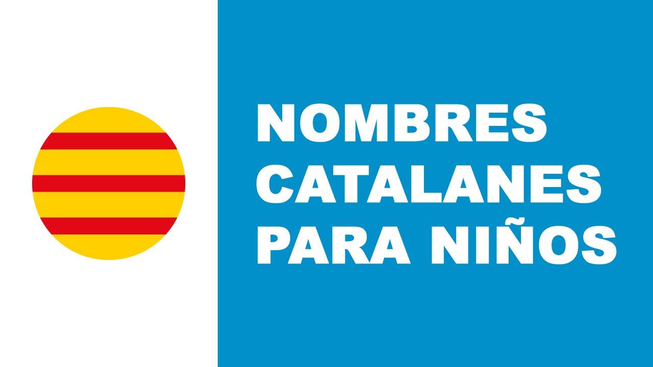 Nombres catalanes para niños