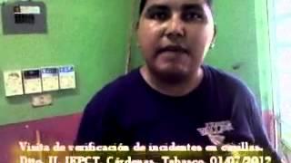 preview picture of video 'Incidentes de casilla Dtto. II Tabasco, Julio 2012.'