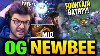 OG Fountain Bath in TI9?! Mid Bristleback & Carry IO - OG vs NEWBEE TI9 Dota 2