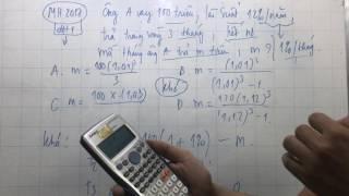 Tuyệt kỹ casio công phá 100% các bài toán lãi suất
