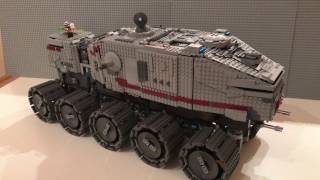 Lego Star Wars Custom UCS Clone Turbo Tank / Juggernaut In Detail