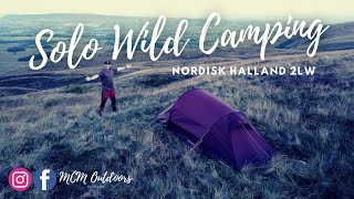 Solo Wild Camping Adventure on the UK Fells In the Nordisk Halland 2LW Tent