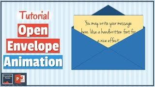Open Envelope Animation Effect in PowerPoint