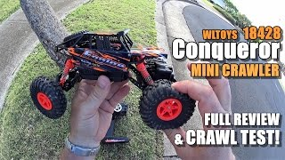 WLTOYS 18428 1:18 Scale Rock Crawler Review - [Unbox, Inspection, Crawl Test, Pros & Cons]