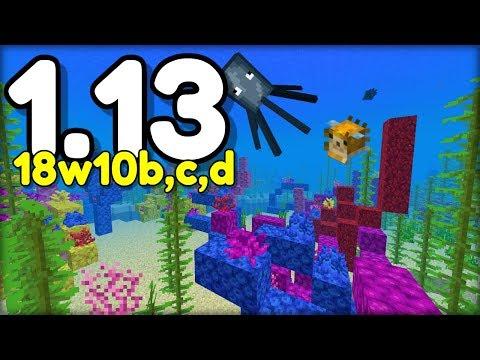 NOVÉ CHOVÁNÍ VODY, KORÁLOVÉ ÚTESY SE GENERUJÍ ! V Minecraftu 1.13 ! (18w10b,c,d)