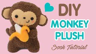 DIY Sock Plush Tutorial | Cute Monkey Holding a Banana