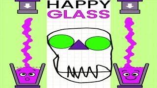 Happy Glass - Gameplay Walkthrough Part 7 Level 183 - 213 - DRAW A LINE TO FILL THE GLASS