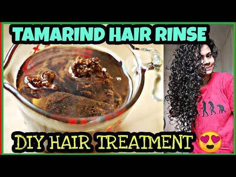 TAMARIND HAIR WASH FOR LONG HAIR😲GET RID OF DANDRUFF USING IMLI PANI😱DIY REMEDY FOR ALL TYPE OF HAIR
