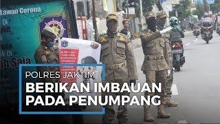 Polsek Ciracas Imbau Warga Terminal Kampung Rambutan Guna Cegah Penyebaran Covid-19