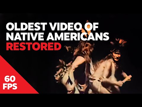 Oldest Known Footage of Native Americans Restored in 60 FPS