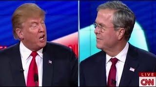 Donald Trump vs. Jeb Bush INTENSE Moments at Republican Debate (12-15-15)