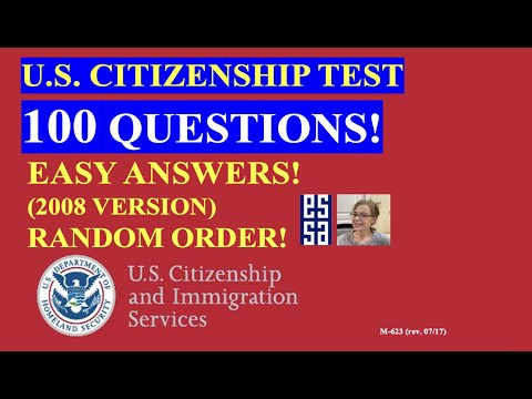 2021 - 100 Civics Questions (2008 version) for the U.S. Citizenship ...