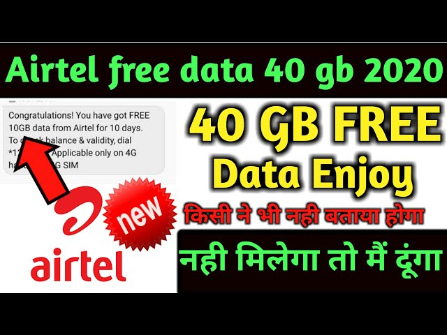 How To Get Free Internet In Airtel