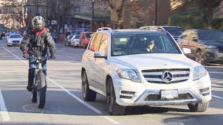 Extra bike lane on one-way street frustrates drivers