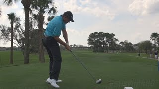 RETIEF GOOSEN 2014 - DRIVER GOLF SWING 4TH HOLE HONDA - REGULAR & SLOW MOTION 1080p HD