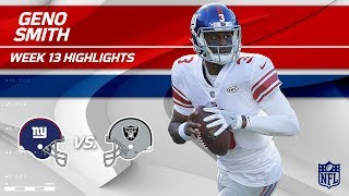 Geno Smith Highlights | Giants vs. Raiders | Wk 13 Player Highlights