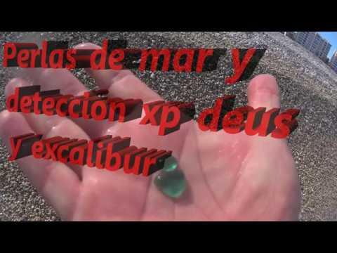 Perlas de mar y deteccion con xp deus y minelab excalibur en playa