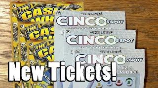 NEW TICKETS! 3X Cinco 5 Spot + 3X The Cash Wheel! ✦ TEXAS LOTTERY SCRATCH OFF TICKETS