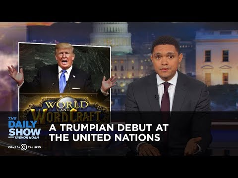 A Trumpian Debut at the United Nations: The Daily Show