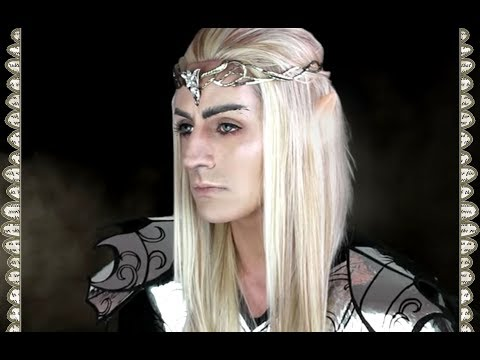 King ELF Makeup Rey Elfo The Hobbit Thranduil Makeup Tutorial  SFX Maquillaje paso a paso (Español)