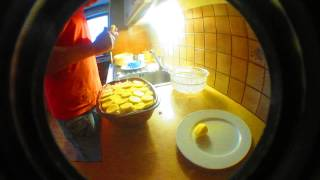 preview picture of video 'kartoffel-gratin  aus dem römertopf V'