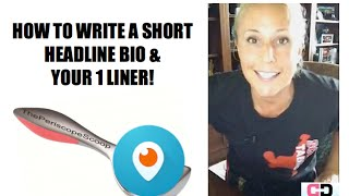 HOW TO WRITE A SHORT BIO TEMPLATE - How to Write your About Page.- [recorded for live Periscope]