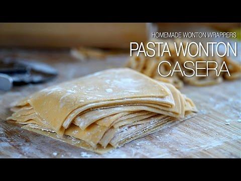Como hacer: Pasta Wonton - Homade Wonton Wrappers Recipe l Kwan Homsai