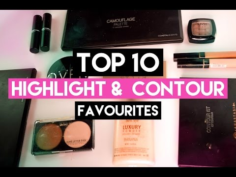 TOP 10 Favourite Highlight & Contour Products | delaniamarvella