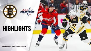 NHL Highlights | Bruins @ Capitals 12/11/19