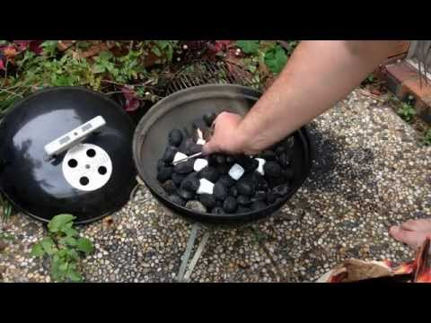 Baby Weber Charcoal Grill - How to clean and start up the fire