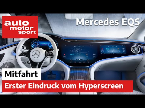 Mercedes EQS: Die erste Mitfahrt im Elektro-Mercedes mit XXL-Display - Review   auto motor und sport
