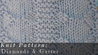 Diamonds And Garter Stitch Rib { Knit }