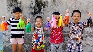 Trò Chơi Bàn Tay Bóng Màu Sắc - Bé Nhím TV - Đồ Chơi Trẻ Em Thiếu Nhi