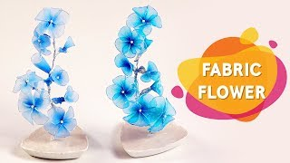 Learn How To Make A Fabric Flower Vase   DIY Fabric Flowers Making   DIY Room Decor Ideas   Do Craft