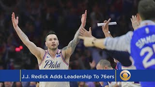 Redick A Team Leader And Mentor For Young 76ers