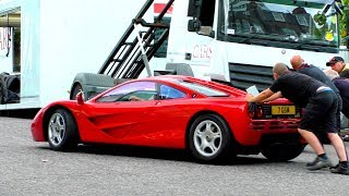 Not really how I hoped to see my first MCLAREN F1 on the move...