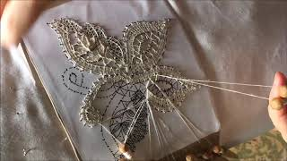 Bobbin Lace Making Butterfly Part 2