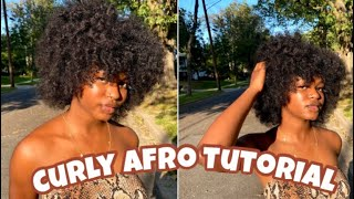 HOW TO: Defined CURLY AFRO tutorial on Type 4 hair