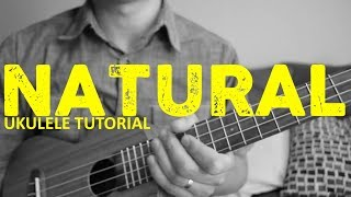 Gambar cover Natural - Imagine Dragons - EASY Ukulele Tutorial - Chords - How To Play