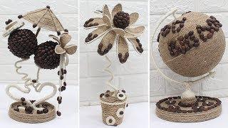 5 Jute craft showpiece | Home decorating ideas | Jute Craft ideas