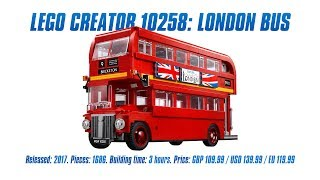 LEGO Creator 10258: London Bus In-depth Review & Speed Build [4K]